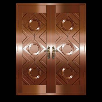 Copper Doors Copper On Steel Security Double Door16647grid