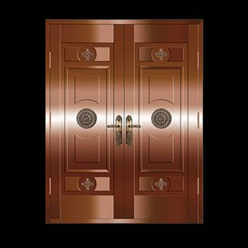 Copper Doors Copper On Steel Security Double Door16649grid