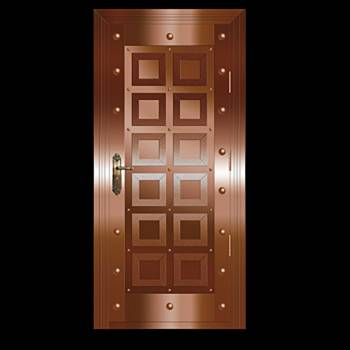 Copper Doors Copper On Steel Security Copper Door16650grid