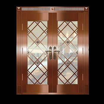 Copper Doors Copper On Steel Security Double Door16651grid