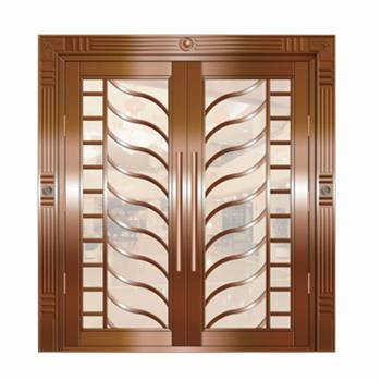 Copper Doors Copper On Steel Security Double Door16652grid