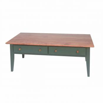 Homestead Coffee Table Birch Autumn/Bayberry Green Stain Endura-Finish