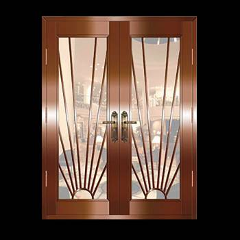 Copper Doors Copper On Steel Security Copper Double Door16655grid