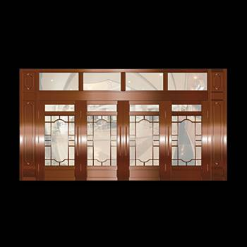 Copper Doors Copper On Steel Security Copper Four Doors & Transom16657grid