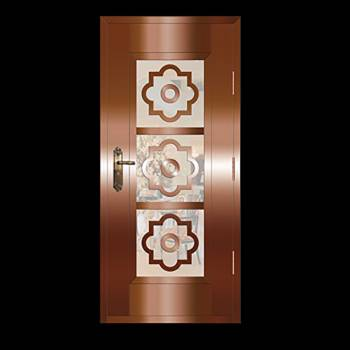 Copper Doors Copper On Steel Security Copper Door16659grid