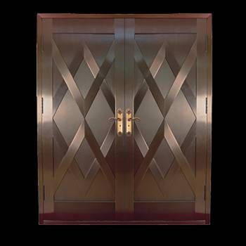 Copper Doors Copper On Steel Security Double Door16673grid