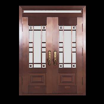 Copper Doors Copper On Steel Security Double Door16675grid