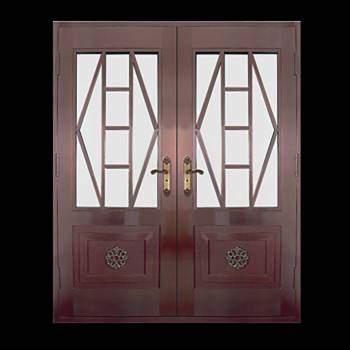Copper Doors Copper On Steel Security Double Door16676grid