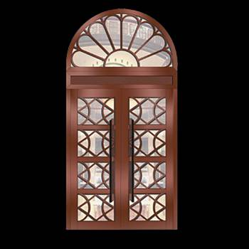 Copper Doors Copper On Steel Security Double Door16677grid