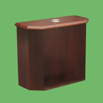 Toilet Parts - Lowboy Beveled Panel TANK ONLY Dark Oak Finish by the Renovator's Supply