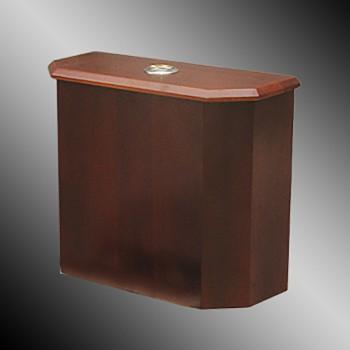 <PRE>Toilet Part Dk Oak Finish Hardwood Lowboy Beveled Tank Only </PRE>zoom3