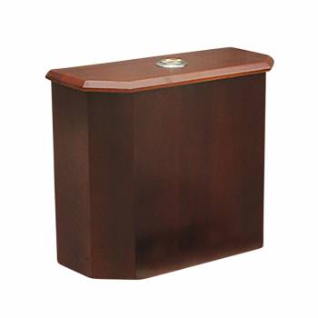 Toilet Part Dk Oak Finish Hardwood Lowboy Beveled Tank Only 16699grid