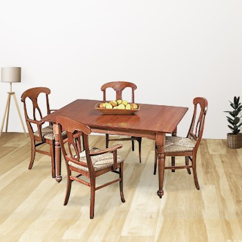 Dining Room Table Set Autumn Stain Hardwood Birch Table 56 Inch x 38 Inch dining room table set Dining Table dining room table with chairs