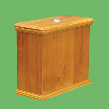 spec-<PRE>Toilet Part Light Oak Hardwood Lowboy Flat Tank Only </PRE>