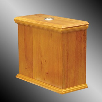 <PRE>Toilet Part Light Oak Hardwood Lowboy Flat Tank Only </PRE>zoom3