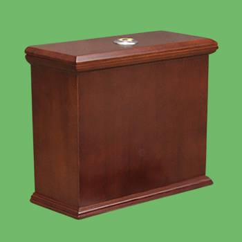 Toilet Parts - Lowboy Flat Panel TANK ONLY Dark Oak Finish by the Renovator's Supply