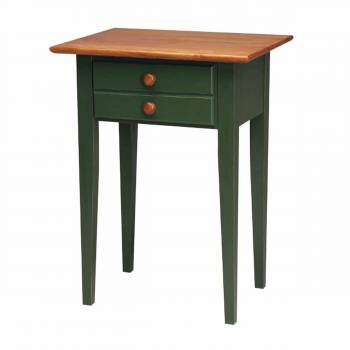 Homestead Lamp Table Birch Autumn Bayberry Green Stain Endura-Finish