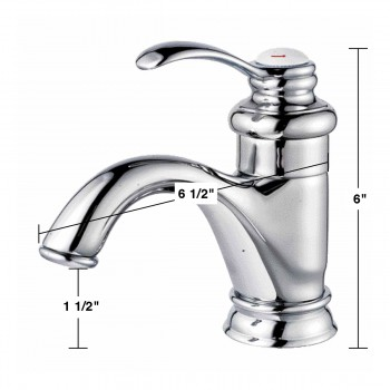 spec-Bathroom Faucet Chrome Plated Ashley Single Hole 1 Handle