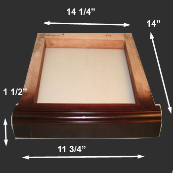 spec-<PRE>Toilet Part Natural Wood Frame for Ceramic High Tank Only </PRE>