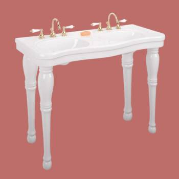 Console Sink White Porcelain Double Console Sink Belle Epoque 8 Porcelain Double Console Sink Glossy Console Sinks Bathroom Console Sink