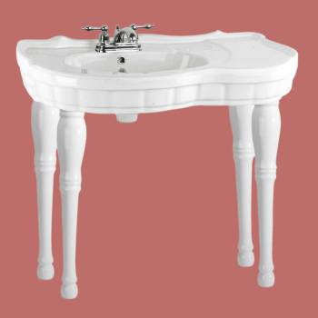 <PRE>Renovator's Supply Bathroom Console Sink White Southern Belle Spindle Wall Mount</PRE>zoom2