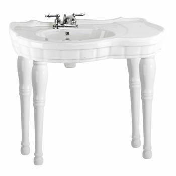 Bathroom Console Sink White Southern Belle Spindle Wall Mount16847grid