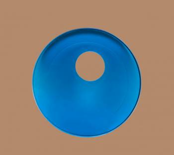 <PRE>Replacement Waterfall Faucet Glass Disc Plate Dark Blue </PRE>zoom2