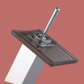 spec-<PRE>Waterfall Faucet Cast Heavy Chrome Square Glass Plate Short </PRE>