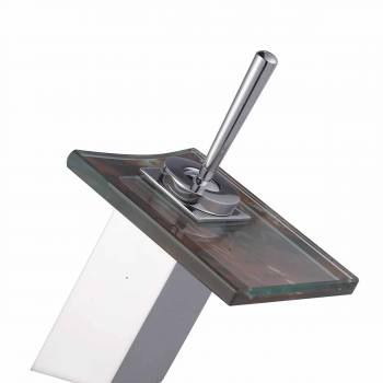 <PRE>Waterfall Faucet Cast Heavy Chrome Square Glass Plate Short </PRE>zoom1