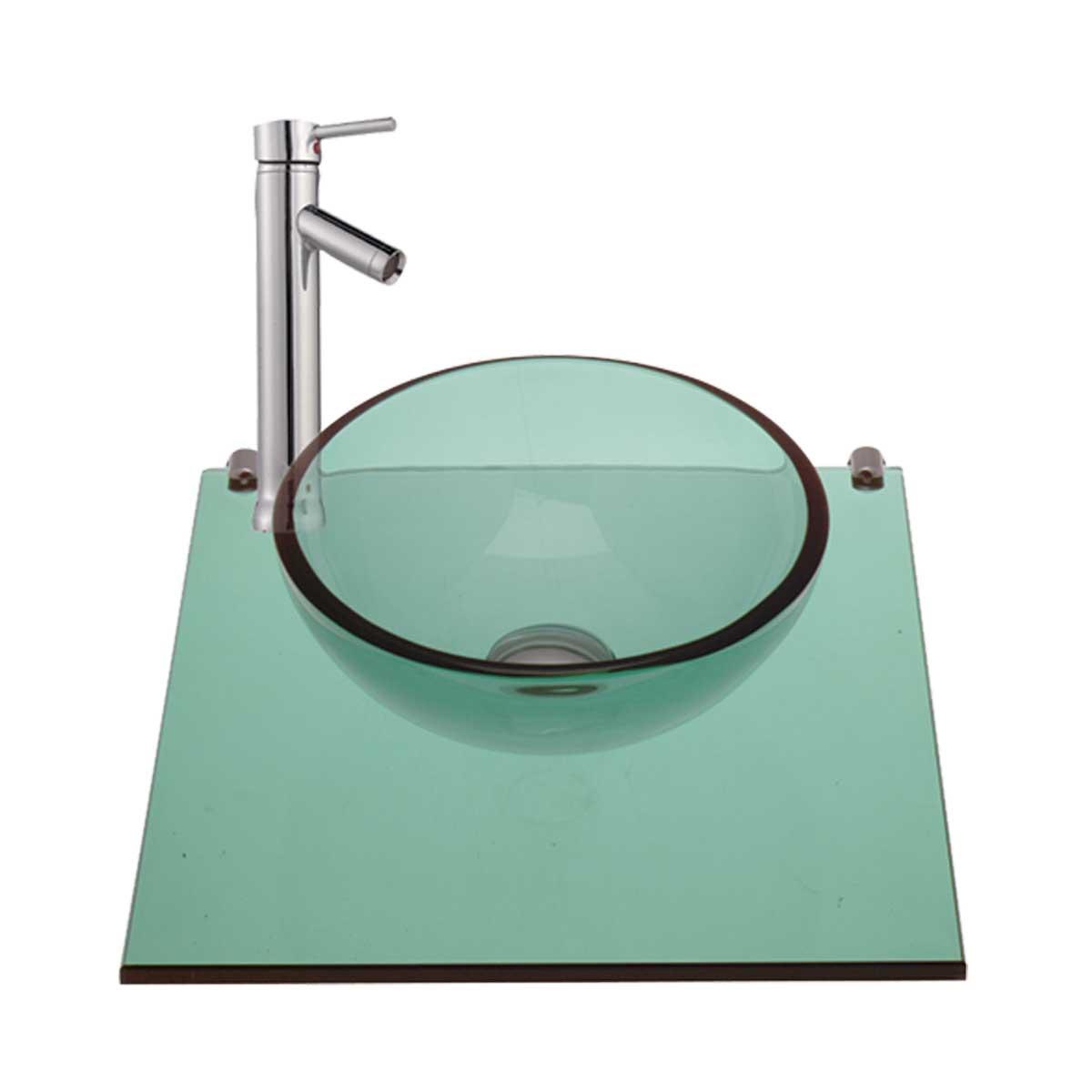 Washing Wall Mount Mini Glass Sink Faucet In