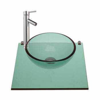 Mystic Plateau Wall Mount Glass Mini Sink Green