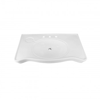 Bathroom Console Sinks Deluxe Belle Epoque White Porcelain 16912grid