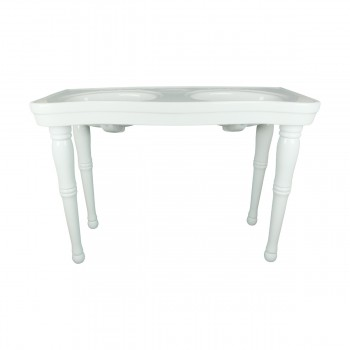 <PRE>Part White Vitreous China Belle Epoque Double Deluxe Console Sink 8in.</PRE>zoom3