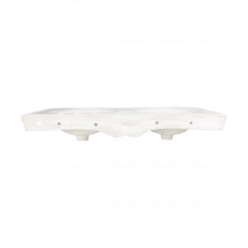<PRE>Part White Vitreous China Belle Epoque Double Deluxe Console Sink 8in.</PRE>zoom6