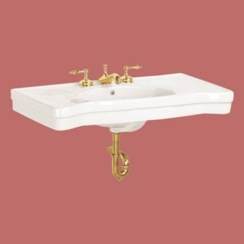 <PRE>Bathroom Console Sinks White China Belle  Epoque No Legs</PRE>zoom2