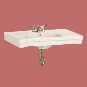 Bathroom Console Sinks Deluxe  Biscuit Porcelain Belle Epoque Porcelain Console Sink Glossy Console Sinks Bathroom Console Sink