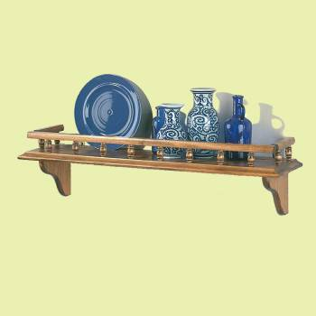 <PRE>Kitchen Shelves Antique Pine Captain's Shelf 28inch W </PRE>zoom2