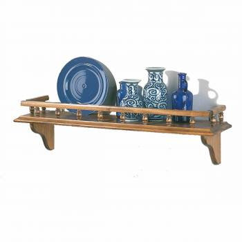 Kitchen Shelves Antique Pine Captain's Shelf 28