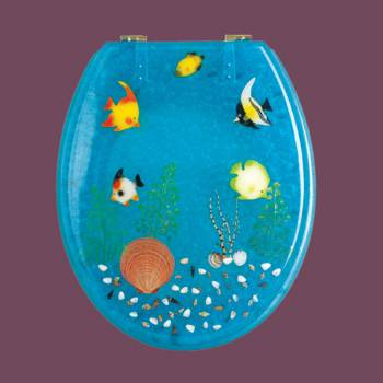spec-<PRE>Polyresin Toilet Seat Ocean Floor Brass </PRE>