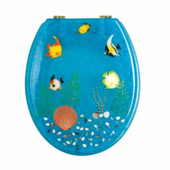 <PRE>Polyresin Toilet Seat Ocean Floor Brass </PRE>zoom1