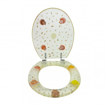 <PRE>Polyresin Toilet Seat Sea Shell Adjustable Elongated Hinge </PRE>zoom3