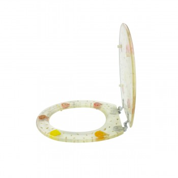 <PRE>Polyresin Toilet Seat Sea Shell Adjustable Elongated Hinge </PRE>zoom4