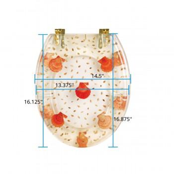 spec-<PRE>Polyresin Toilet Seat Sea Shell Adjustable Hinge </PRE>
