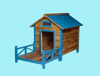 <PRE>Wooden Dog House Outdoor Wooden Pet Shelter Bed Large w/ Porch</PRE>zoom2