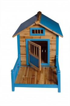 <PRE>Wooden Dog House Outdoor Wooden Pet Shelter Bed Large w/ Porch</PRE>zoom3