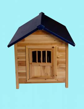 <PRE>Wooden Dog House Outdoor Pet Shelter Bed Medium w/ Window </PRE>zoom2