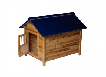 <PRE>Wooden Dog House Outdoor Pet Shelter Bed Medium w/ Window </PRE>zoom3