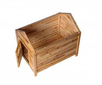 <PRE>Wooden Dog House Outdoor Pet Shelter Bed Medium w/ Window </PRE>zoom4