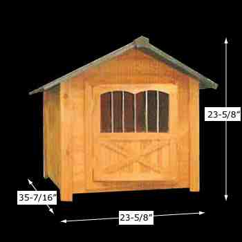 spec-<PRE>Wooden Dog House Outdoor Pet Shelter Bed Medium w/ Window </PRE>