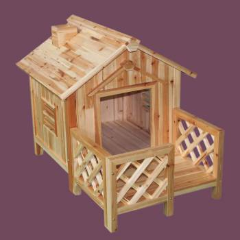 Wooden Dog House Outdoor Wooden Pet Shelter Bed M w Porch Wooden Roof Wooden Dog House Dog House Outdoor pet shelter